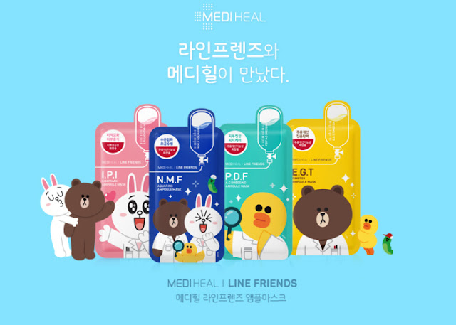 mediheal x line friends mask