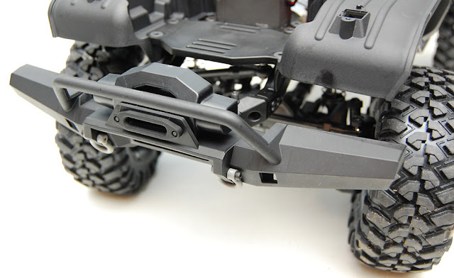 Traxxas TRX-4 chassis front bumper winch shackles