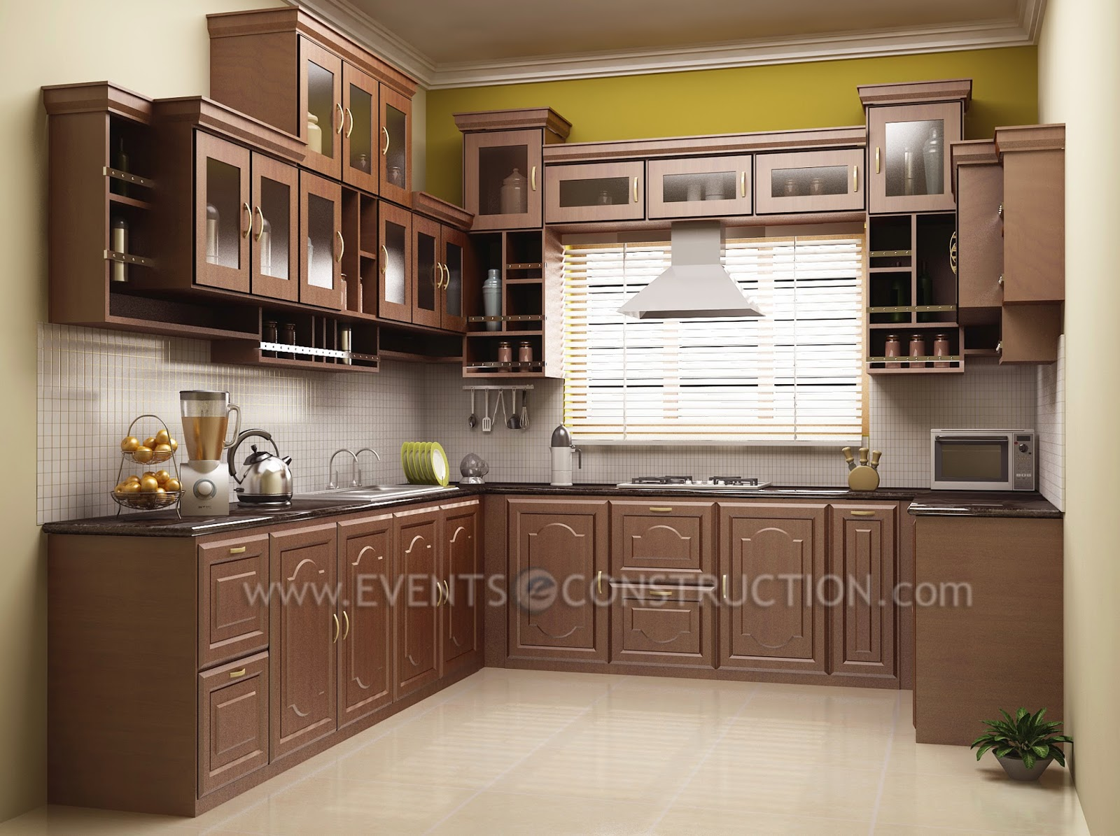 kerala home kitchen designs evens construction pvt ltd kerala kitchen interior 4930