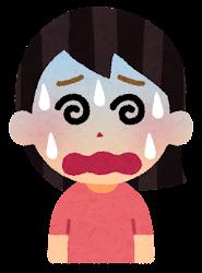 困る表情のイラスト5(女性)
