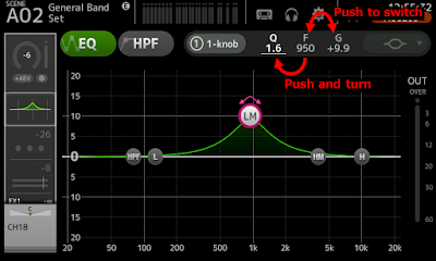 Modify Q parameter with Touch and Turn knob
