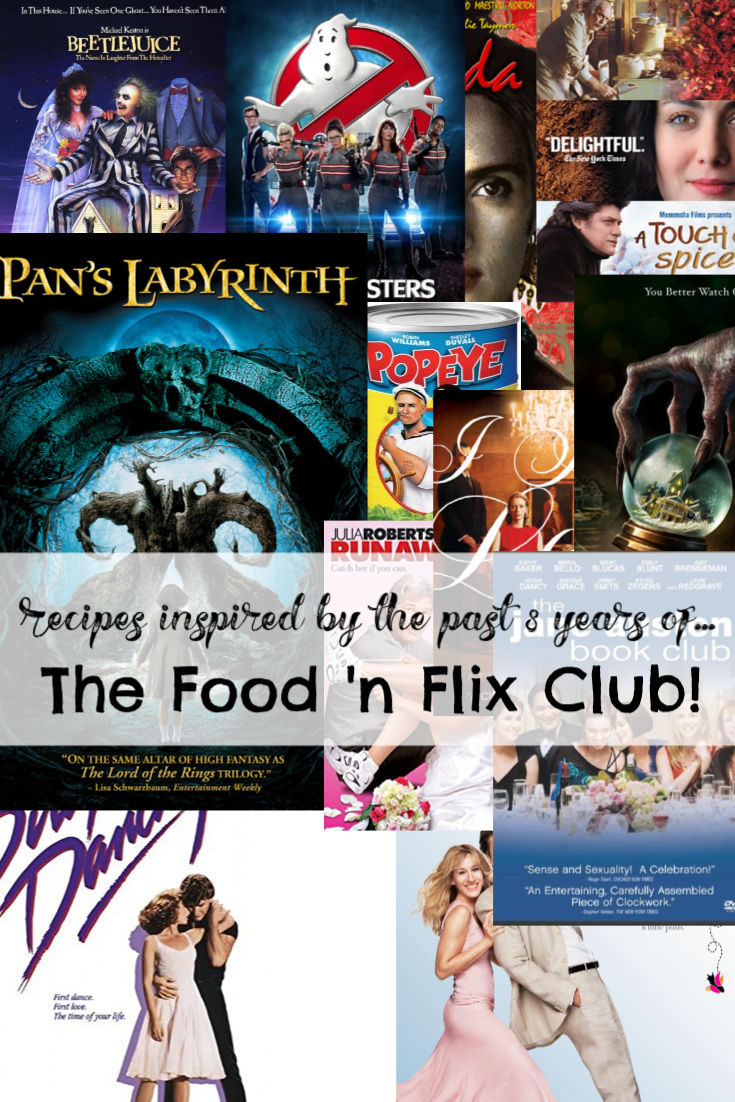 Recipes inspired by the past 8 years of #FoodnFlix club