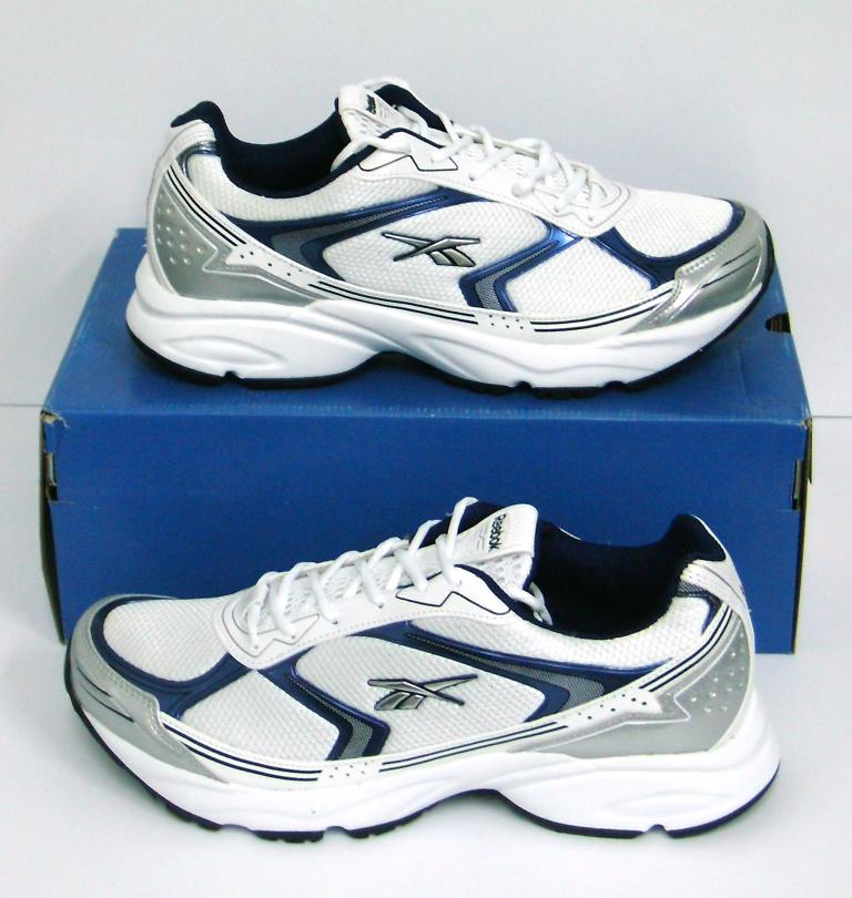 1b2aa3f52 Ardepot  Zapatillas Reebok Modelo Calle Running Color Blanco Azul