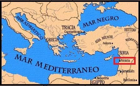 Fenicia antigo testamento mapa