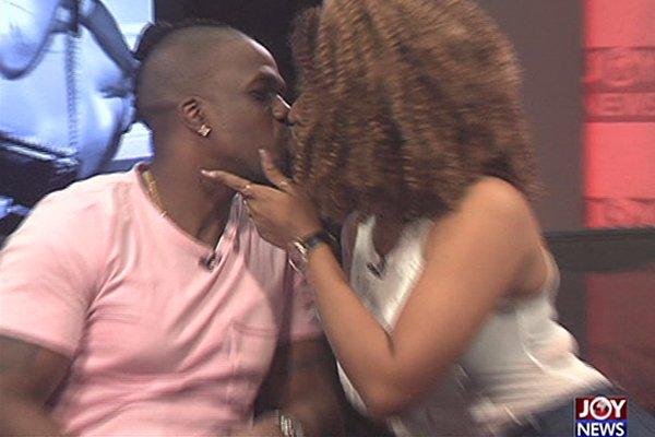 Watch: Juliet Ibrahim and boyfriend Iceberg Slim kiss on live TV