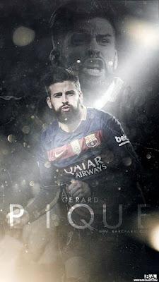 gaya rambut Gerard Pique pemain barcelona