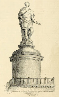 One of Wren's rejected designs for the top of the Monument from Old and New London byW Thornbury (1873)