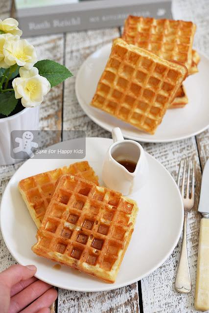 light crispy fluffy yeast waffle