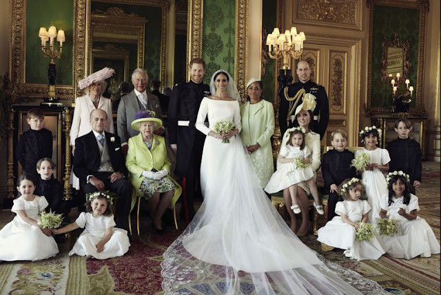 Royal Family Portrait : Prince Harry and Meghan Markle
