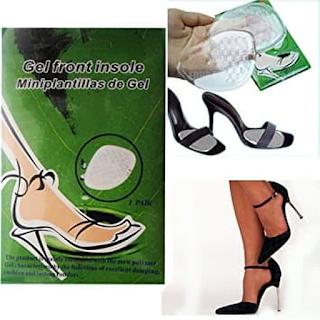 High Heeled Shoes Pad Gel Kaki jadi Anti Lecet pakai sepatu silicone