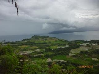 Hamparan Danau Toba dan Persawahan warga