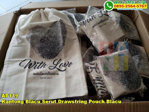 Toko Kantong Blacu Serut Drawstring Pouch Blacu