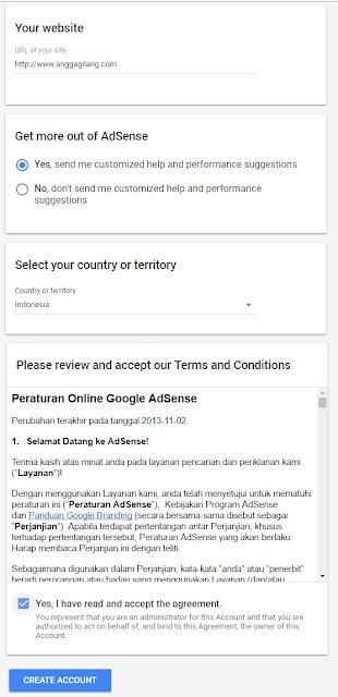 Mendaftar akun adsense terbaru 2017 kini tidak menggunakan review tahap 2 bahkan lebih mudah. Karena better ads semua menjadi mudah cara mendaftar membuat akun adsense terbaru 2017 untuk blog.