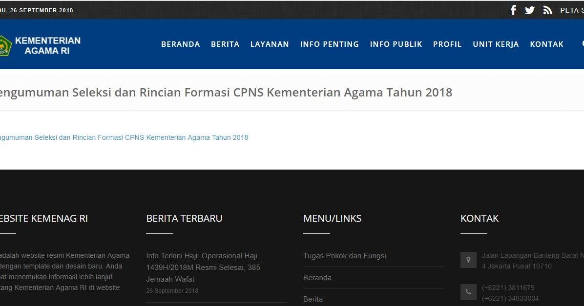Formasi Pendaftaran Pppk: Pengumuman Seleksi Dan Rincian Formasi CPNS Kementerian