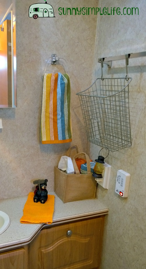 woodland towels, rv bathroom