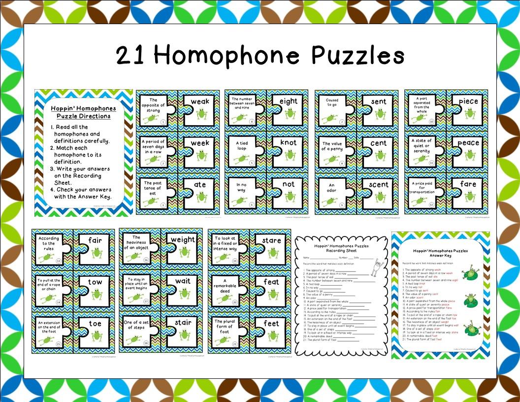 Teacherspayteachers Product Homophone