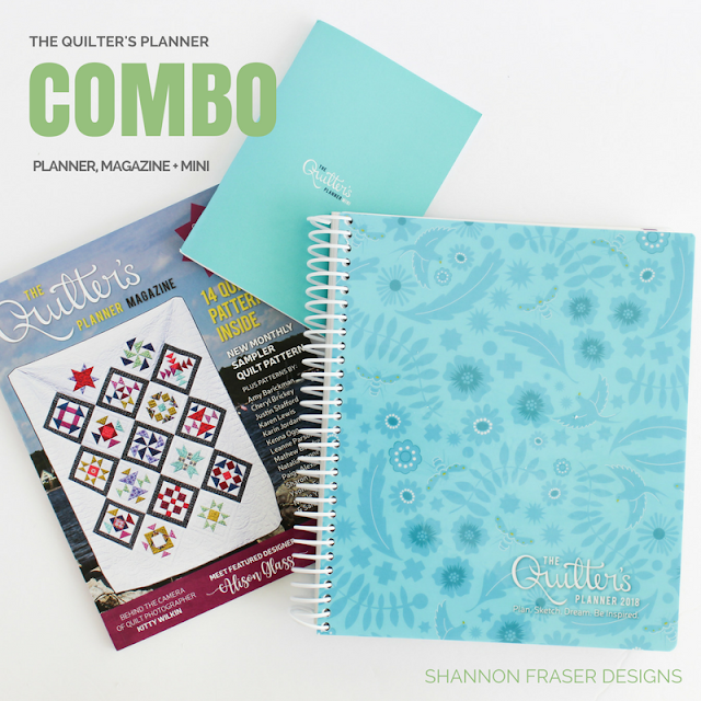 The Quilter's Planner 2018 Combo - Planner, Magazine and Mini Planner available at the Fat Quarter Shop