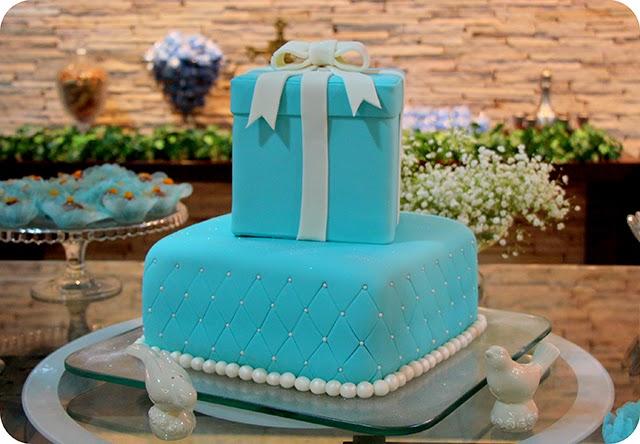 Bolo Aniversário Azul Tiffany & Co.