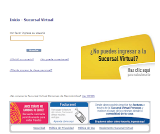 Imagen de un portal bancario de integración con clientes
