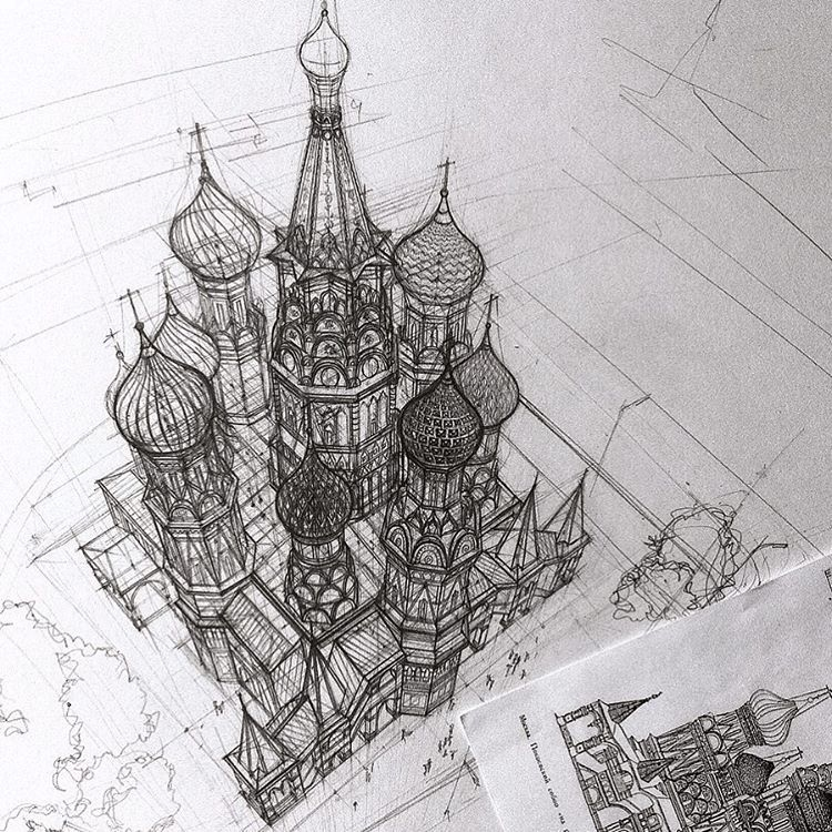 02-Saint-Basil-s-Cathedral-Moscow-Russia-Adelina-Gareeva-Detailed-Architectural-Recreations-and-Concept-Drawings-www-designstack-co