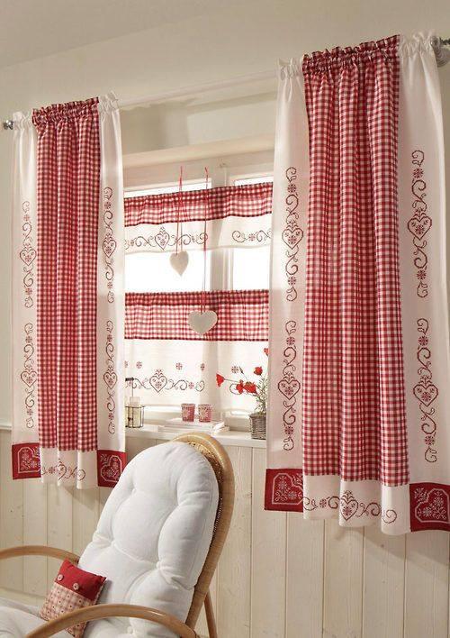 modelos de cortinas para cocinas by
