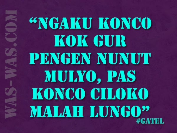 """Gambar Lucu Gokil Bahasa Jawa"""