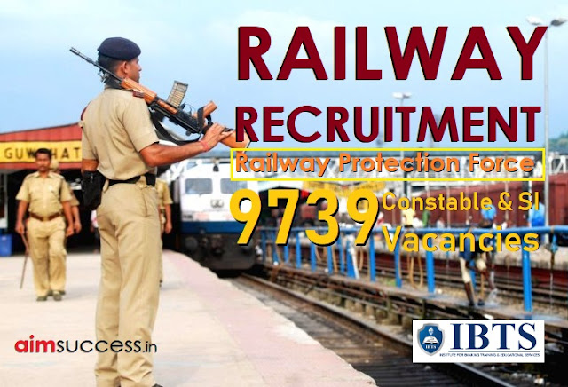 Railway RPF Recruitment 2018 9739 Constable & SI Vacancies