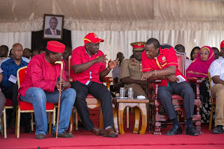 President Uhuru Kenyatta in Lamu. PHOTO | Courtesy