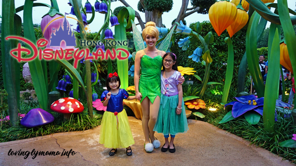 Tinkerbell at the Hong Kong Disneyland magic