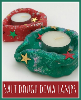 How to make salt dough diwa lamps