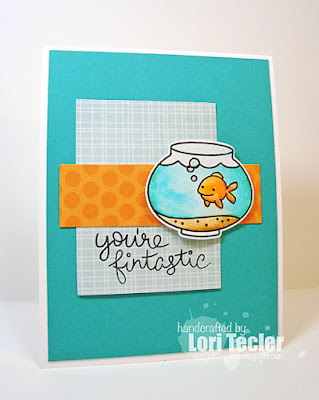 You're Fintastic card-designed by Lori Tecler/Inking Aloud-stamps and dies from Lawn Fawn