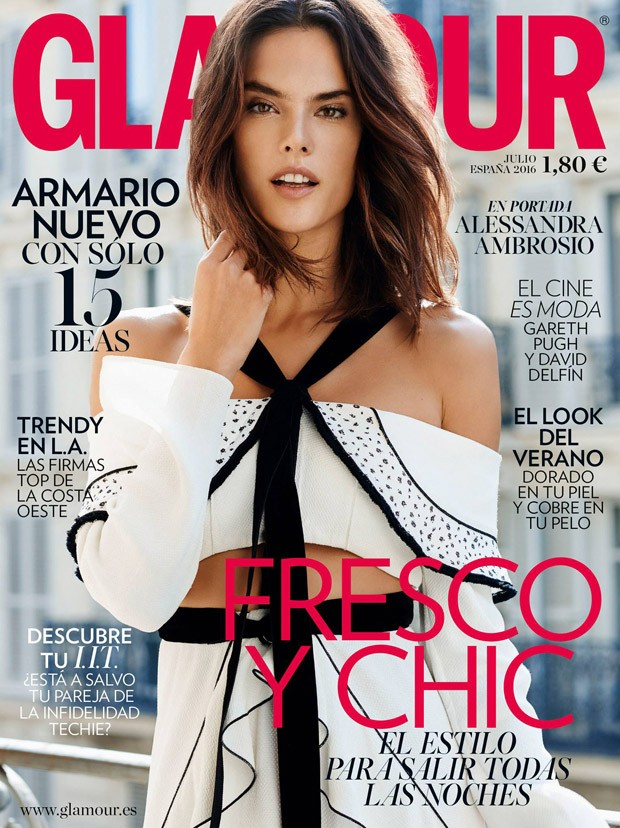 Alessandra Ambrosio covers Glamour Spain July 2016