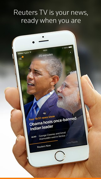 Reuters TV app for iPhone released