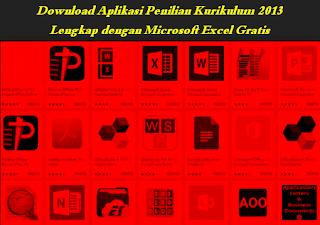 Aplikasi, Penilaian, KURIKULUM 2013, Excel,