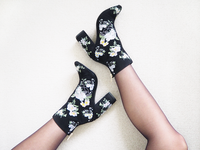 Miss Selfridge Floral Embroidered Boots