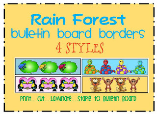 rain forest themed bulletin board border