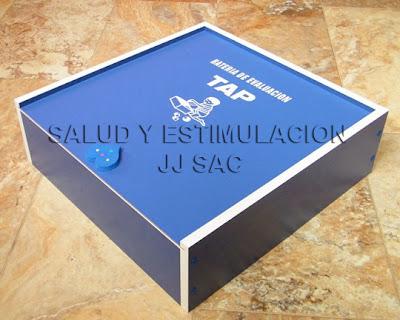 Caja melanina TAP Test Peruano EvaluaciOn Desarrollo psicomotriz Niño TPED azul