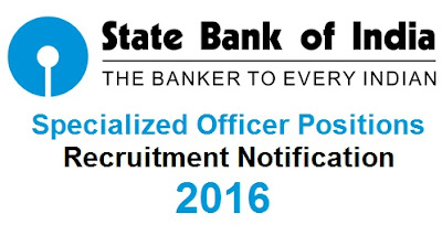 SBI Specialized officer recruitment