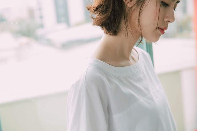夢之河短袖上衣-白光