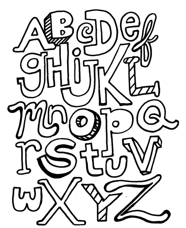 Coloriage Alphabet Francais.Dessins Et Coloriages Page De Coloriage Grand Format A Imprimer L