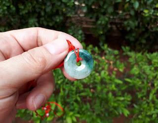 Liontin Batu Permata Giok Jadeite Jade Type A No Treatment JDT013 Burma