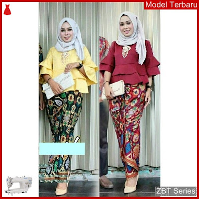 ZBT08409 Kebaya Dress Batik Wanita Lonceng Merak BMGShop