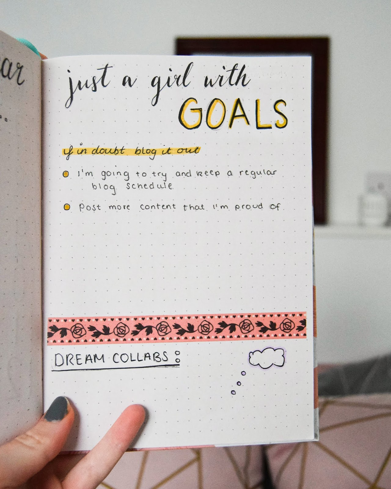 blogging bullet journal
