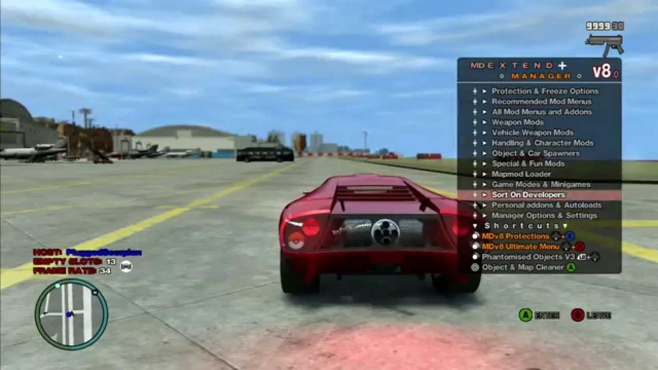 GTA IV Mod Menu (Major Distribution v8) PS3 & Xbox & PS4