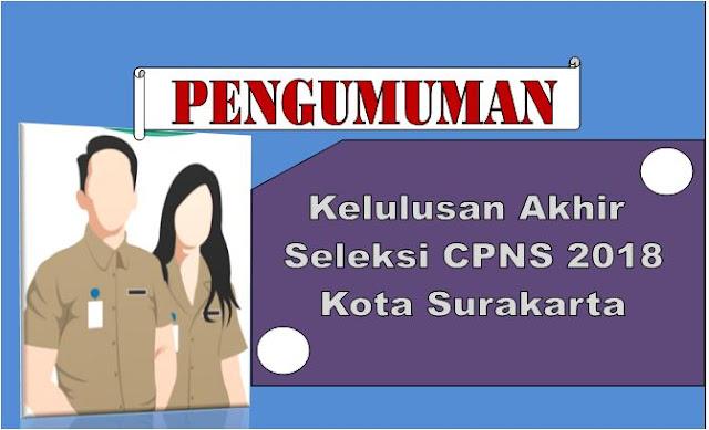 Pengumuman Akhir CPNS Kota Surakarta 2018