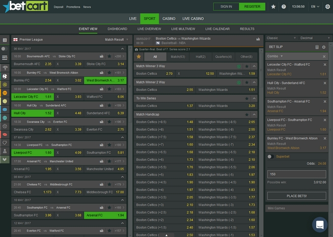 BetCart Screen