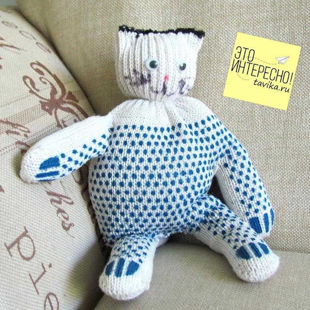 поделки из перчатки - кот
