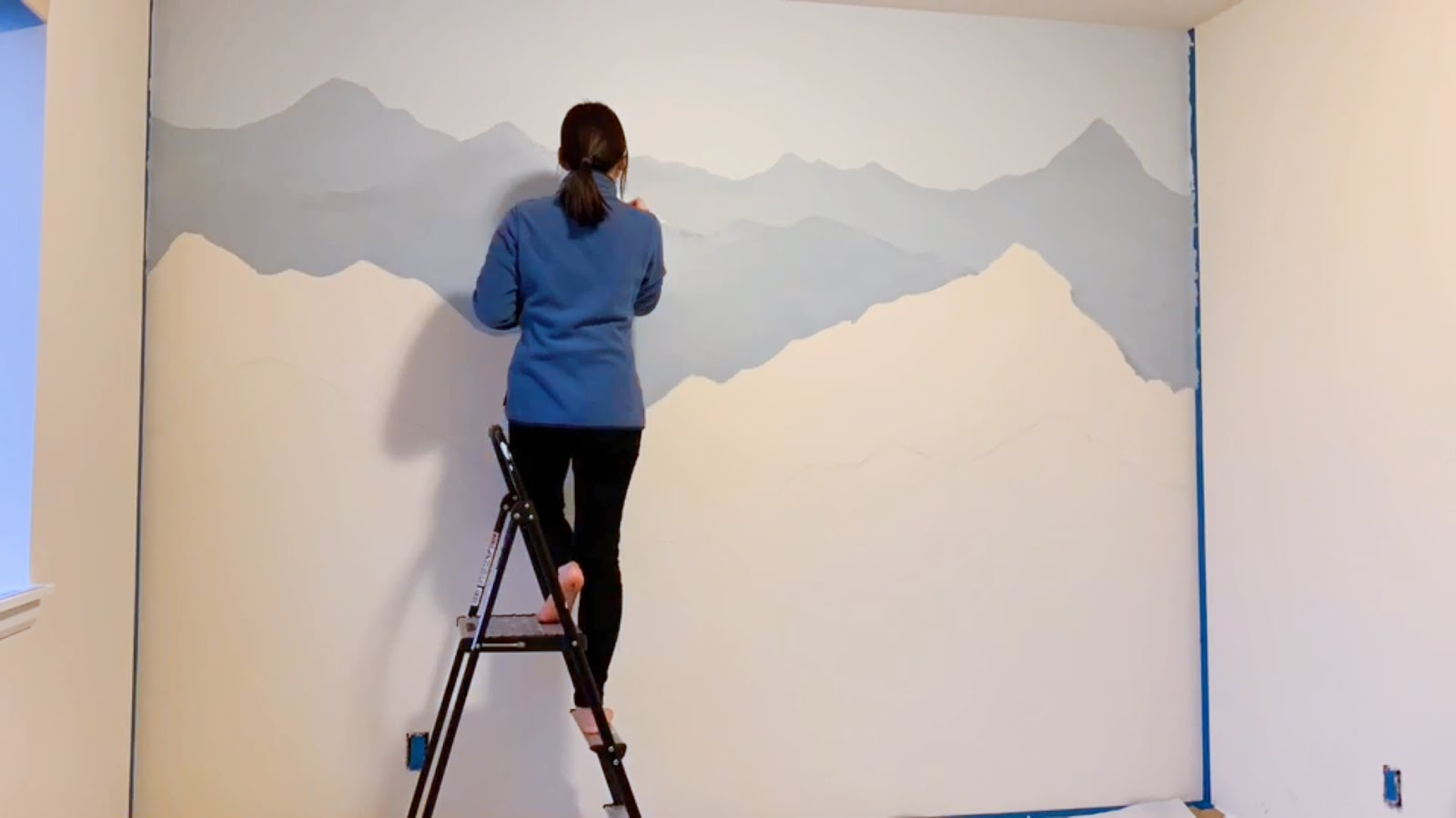 How To Paint A Mountain Mural On Your Bedroom Or Nursery Wall Diy Timelapse Speed Painting Sweet Softies Amigurumi And Crochet