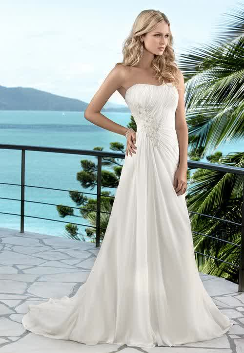 Summer Hawaiian Beach Wedding Gowns Gorgeous Look Bridal Trend