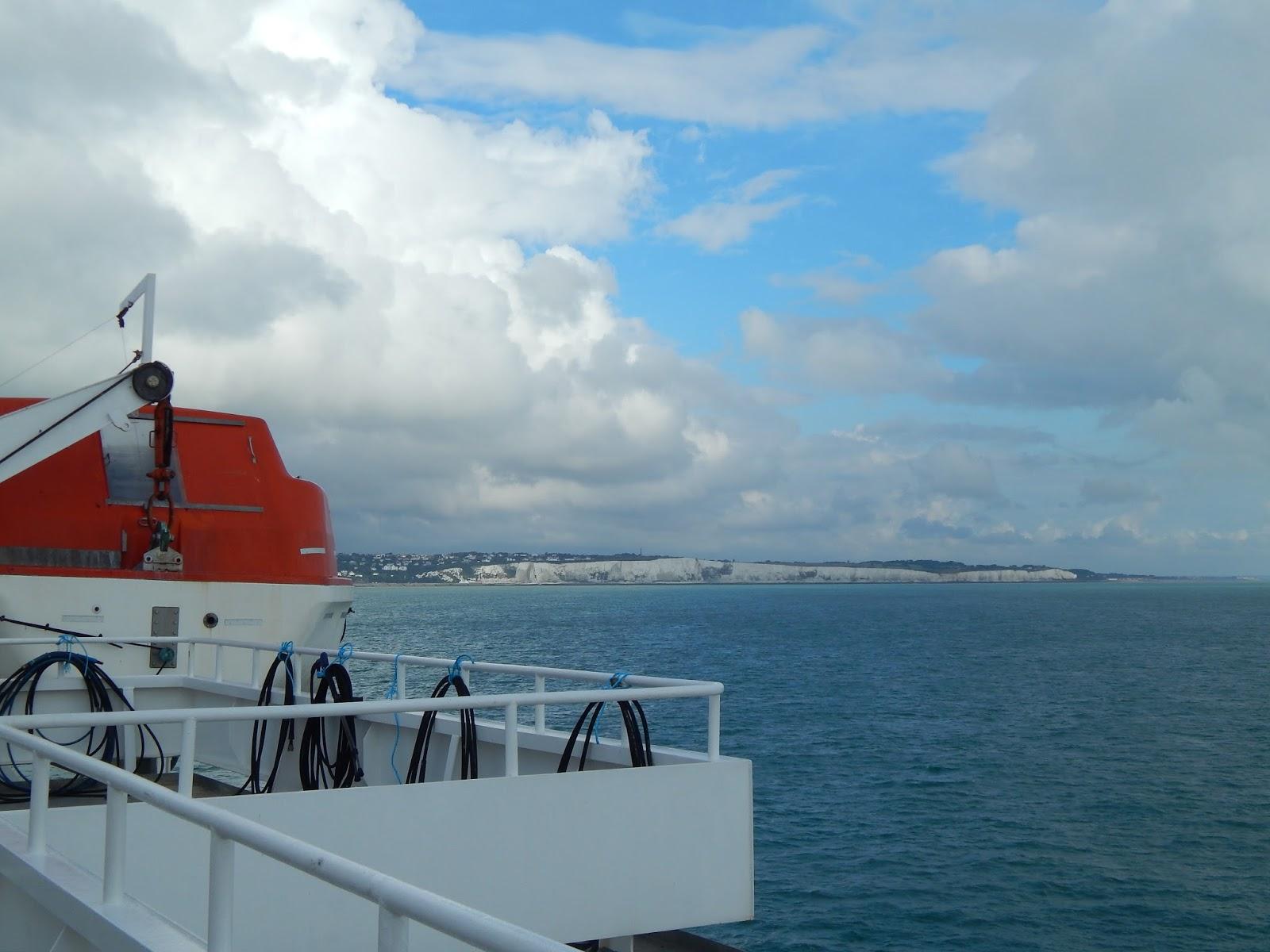 cesta trajektem přes La Manche